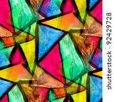 mosaic pattern of bright... | Shutterstock . vector #92429728