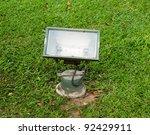 outdoor spotlight in the garden   Shutterstock . vector #92429911