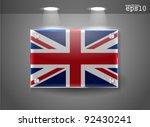 united kingdom uk flag banner...   Shutterstock .eps vector #92430241