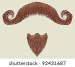 mustache and beard isolated for ...