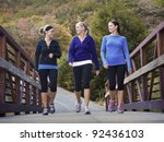 three attractive young women... | Shutterstock . vector #92436103