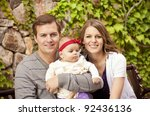 beautiful young family portrait | Shutterstock . vector #92436136