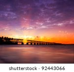 beautiful colorful sunset or... | Shutterstock . vector #92443066
