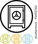 bank safe deposit box   vector... | Shutterstock .eps vector #92453761