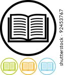 open book   vector icon | Shutterstock .eps vector #92453767