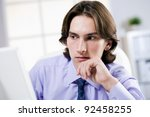 young and successful guy in the ... | Shutterstock . vector #92458255