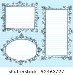 inky notebook doodle borders... | Shutterstock .eps vector #92463727
