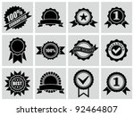 vector black badges ... | Shutterstock .eps vector #92464807
