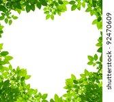 Green Leaves In Heart Shape On...