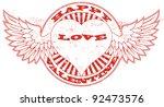 happy valentine stamp