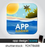 summer holiday app icon for...