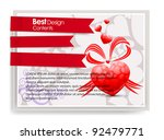 heart vector illustration cards ... | Shutterstock .eps vector #92479771