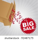 red big sale tag with box over... | Shutterstock .eps vector #92487175
