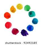 swatches of watercolors | Shutterstock . vector #92492185