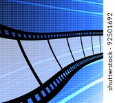 flying film strip with digit... | Shutterstock . vector #92501692