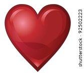 ruby red heart is an... | Shutterstock . vector #92502223