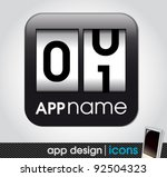 counter app icon for mobile... | Shutterstock .eps vector #92504323