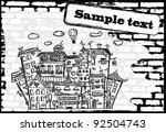 vector background with the old... | Shutterstock .eps vector #92504743