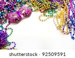 Mardi Gras Mask And Beads For...