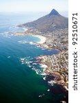 overhead view of coast of cape... | Shutterstock . vector #92510671