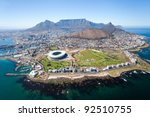 overall aerial view of cape...