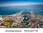 aerial view of cape town harbor ... | Shutterstock . vector #92510773