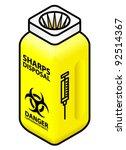 a syringe sharps disposal bin   ... | Shutterstock .eps vector #92514367