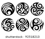 round tattoos | Shutterstock .eps vector #92518213