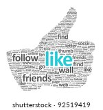 illustration of the thumbs up... | Shutterstock . vector #92519419