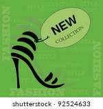 new collection shoes icon.... | Shutterstock .eps vector #92524633