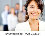 female customer support... | Shutterstock . vector #92526319
