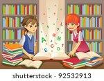 a vector illustration of kids... | Shutterstock .eps vector #92532913