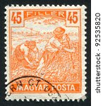 hungary   circa 1916  stamp... | Shutterstock . vector #92535820