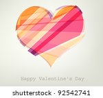 heart vector illustration.... | Shutterstock .eps vector #92542741