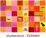 abstract background full of...   Shutterstock .eps vector #9254464