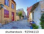 traditional houses in plaka...   Shutterstock . vector #92546113