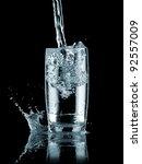 water flow in a glass | Shutterstock . vector #92557009