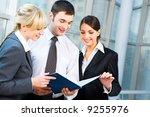 portrait of happy business... | Shutterstock . vector #9255976