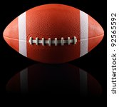 an american football in front... | Shutterstock . vector #92565592