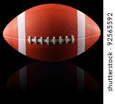 an american football in front... | Shutterstock . vector #92565592