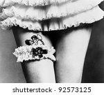 view of a woman hiding a tattoo ... | Shutterstock . vector #92573125