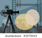 abstract cinema background ... | Shutterstock .eps vector #92575015