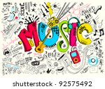 music background  | Shutterstock .eps vector #92575492