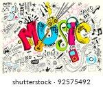 music background  | Shutterstock .eps vector #92575492