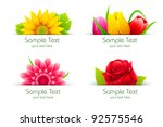 illustration of set of colorful ... | Shutterstock .eps vector #92575546