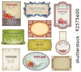 illustration of retro label in... | Shutterstock .eps vector #92575600