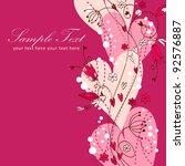elegant valentine love floral...   Shutterstock .eps vector #92576887