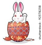 easter bunny in the egg   Shutterstock . vector #92578258