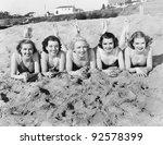 Portrait Of Five Young Women...