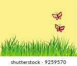 couple butterfly  grass and... | Shutterstock .eps vector #9259570
